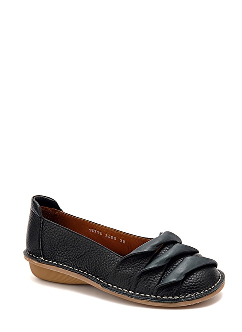 Beta Deri Babet Ayakkabı Siyah